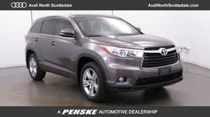 toyota suv used used toyota highlanders for sale serving az toyota of