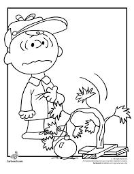 charlie brown drooping christmas tree coloring woo