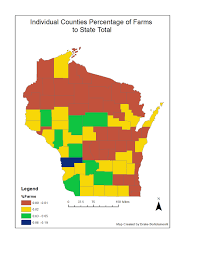 Wisconsin Counties Map by Quantitative Methods September 2015