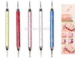 x2 silver picture more detailed picture about pink nail dotting