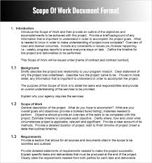 statement of work ms word excel templ saneme