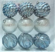 time middle blue silver shatterproof ornaments walmart