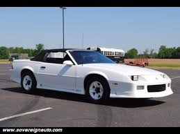white chevy camaro convertible 1991 chevrolet camaro rs convertible low leather for sale in