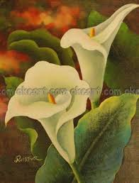 free shipping flowers paintings on canvas free shipping flowers wall white calla