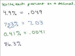 percent to decimal percents part 2 change percent to decimal
