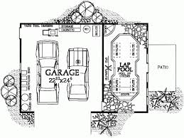 eplans garage plan garage with indoor lap pool 876 square feet