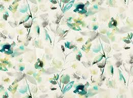 Discount Designer Upholstery Fabric Online Mariola Jade Saphira Printed Cotton Linen Romo Fabrics