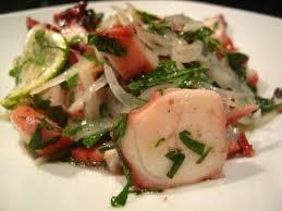 cuisiner poulpe frais salade de poulpe lacath au four et au moulin