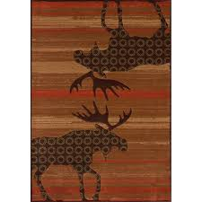 Moose Area Rugs Terracotta Moose Area Rugs
