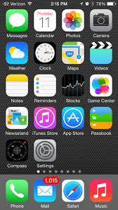 home screen icon design what is on the default home screen of an iphone 5 in ios 7 solve
