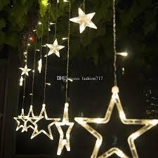 led icicle lights cool white 2 3m138led star curtain string light 110v220v led icicle lights