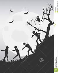 spooky halloween zombies background stock vector image 59438038
