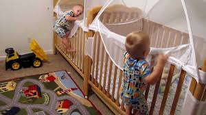 How To Convert A Crib To A Toddler Bed by Twins Putting Themselves To Bed Youtube