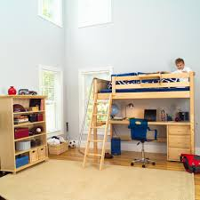 Full Bunk Bed With Desk White Polished Metal Loft Bed Full Size - White bunk beds with desk