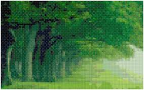home decoration pdf cross stitch misty pathway pattern design chart magical outdoor