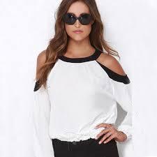 shoulder cut out blouse cheap shoulder cut tops find shoulder cut tops deals on line at
