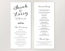 catholic wedding program modern wedding program single sided flat program