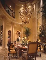 Elegant Dining Room Chandeliers Classic Mediterranean Dining Room Chandelier High Ceilings