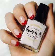 get the look 3 valentine u0027s day nail art ideas from lauren b