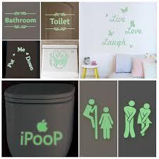 Bathroom Door Stickers Wall Art Decals Bathroom Sale 46 Deals From Cdn 0 28 Sheknows