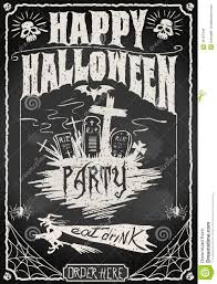 vintage blackboard for halloween party royalty free stock photos