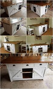 pallet kitchen island pallet kitchen island table or cabinet with sliding doors pallet