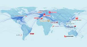 Qatar Route Map by Oneworld Alliance Global Value Network Conference