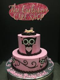 baby shower owl cakes baby shower cakes exclusive cake shop