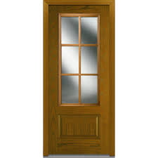 3 Panel Exterior Door Mmi Door 36 In X 80 In Sdl Low E Right 3 4 Lite 1 Panel