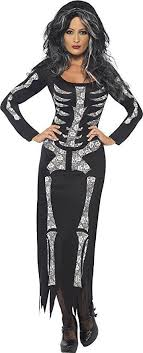 skeleton costume womens smiffy s skeleton costume womens fancy dress costume