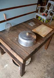 cuisine bois acier diy bricolage cuisine bois enfant caserole récipient acier lavabo