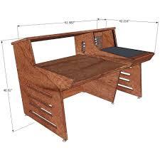 How To Build A Recording Studio Desk by Sound Construction Api 1608 1 1 Straight Desk Cherry Studio