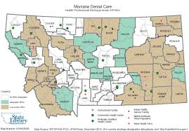 Montana County Map by Shortage Area Designations
