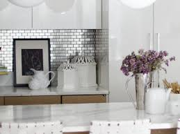 stainless steel kitchen backsplash ideas stainless steel backsplash tiles pictures ideas from hgtv hgtv