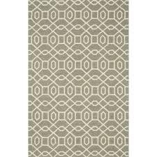 Overstock Com Outdoor Rugs by Hand Hooked Indoor Outdoor Capri Grey Ivory Rug 7 U00276 X 9 U00276 By
