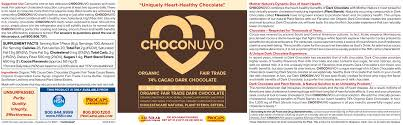 choconuvo 74 cacao dark chocolate 300 servings 8369391 hsn
