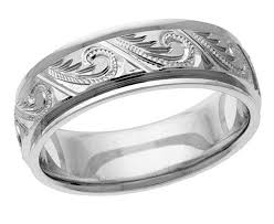 wedding band engraving engraved paisley wedding band ring