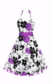 white u0026 purple floral pin up rockabilly prom dress 30 00