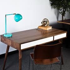 Modern Desk Table by Flint Alley Custom Mid Century Modern Furniture