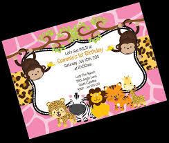 jungle safari birthday invitation printable party invite by