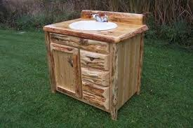 Custom Built Bathroom Vanities Custom Rustic Cedar Bathroom Vanity By King Of The Forest