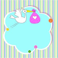 baby shower cards baby shower card with copy space free vector in adobe illustrator