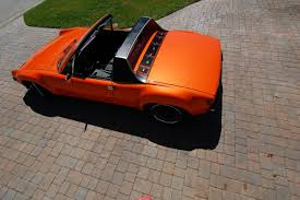 old porsche 914 orange porsche 914 is cool because it has a 3 2 liter swap