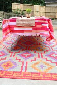 Pink Outdoor Rug Ten June Pink Outdoor Patio Makeover Tangiers Indoor