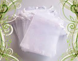 white organza bags white organza etsy