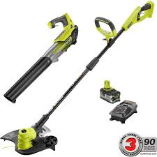 ryobi fan and battery ryobi one 18 volt lithium ion cordless string trimmer edger and jet