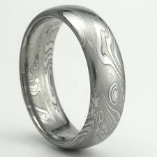 damascus steel wedding band damascus stainless steel wedding band 7mm by mokumedamascusrings