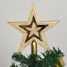 Lighted Star Christmas Tree Topper Ideas Light Up Led Silver Glitter Acrylic Snowflake Christmas
