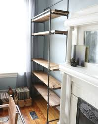 Free Standing Garage Shelves Plans by How To Make A Freestanding Industrial Pipe Bookcase Pipes