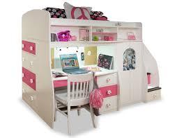 Pink Desk For Girls Catchy Loft Beds With Desk For Girls Girls Desk Pink And White